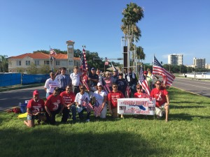 A picture of the Volunteers who showed up to show that Florida Veterans Live Matter