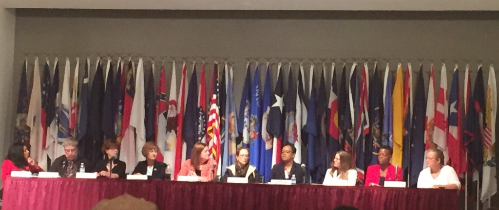 Panelists at the Advisory Committee on Women Veterans town hall at the  Women Memorial