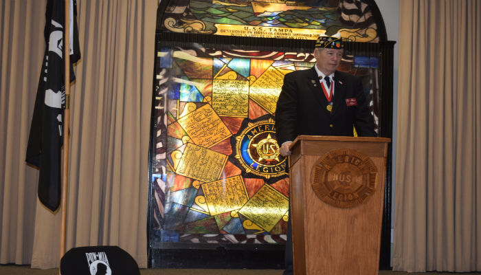 Bill Hamblin American Legion District 15 and Post 5 Commander gives Welcome
