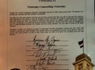 VCV was awarded Tampa City Council Commendation Award
